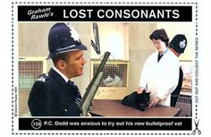 The Lost Consonants =) Anxious, Graham, I Laughed, Funny Stuff, Environment, Collage, Miniatures, Lost, Tutorials