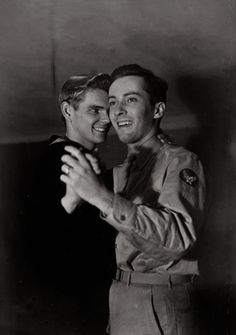 Gay Love - Sailor and soldier dancing, - Vintage Photo