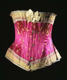 Corset Vintage Corset, Vintage Underwear, Victorian Corset, Vintage Lingerie, Victorian Era, Victorian Fashion, Steampunk, Silhouette, Vintage Outfits