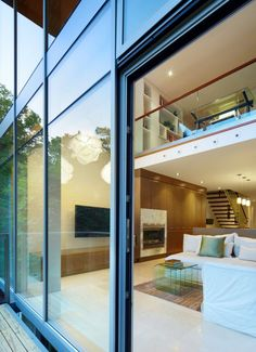 Urban Ravine House | Bortolotto Architects | Toronto's Summerhill neighborhood |  originally 1600 sf., transformed to a 4000 sf, 4 story home