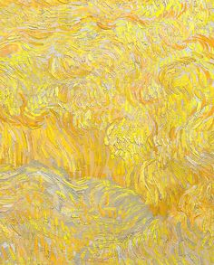 vincent van gogh, wheatfield with a reaper (detail)