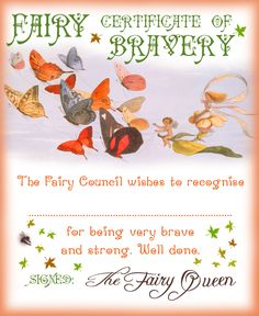 Fairy Certificate of Bravery  sc 1 st  Pinterest & Letters from the fairies | Fairies | Pinterest | Fairy Fairy doors ...