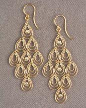 O3885 Roberto Coin Mauresque Teardrop Earrings