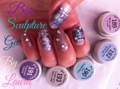 Fantasy collection by Bio Sculpture . Got this delivered yesterday and this is what I created with all the colours added glitter stars n rhinestones :) Bio Sculpture Gel Nails, Glitter Stars, Creative Inspiration, All The Colors, Rhinestones, Colours, Fantasy, Collection, Fantasy Books