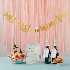 Mimosa Bar 10-Piece Kit - Gold Glitter | Kate Aspen Glitter Gifts, Gold Glitter, All You Need Is, Decorative Paper Napkins, Mimosa Bar Sign, Kate Aspen, Brunch Decor, Gold Banner