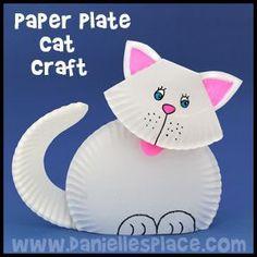 Cat Craft - Paper Plate Craft from www.daniellesplace.com