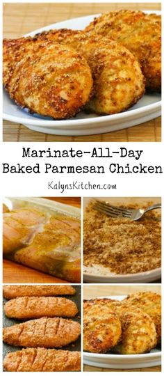 This Marinate-All-Day Baked Parmesan chicken starts marinating in the morning and just takes a few minutes to get into the oven when it's time for dinner. This recipe has a few steps, but it's been hugely popular on the blog. [from KalynsKitchen.com]