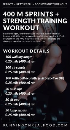 Treadmill Sprints and Strength Training Workout for Total Body Conditioning