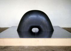 Memorial to the Dead of Hiroshima (unrealized model) by Isamu Noguchi 1952-1982 The Noguchi Museum (granite,steel and wood)