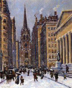 Wall Street with Trinity Church, Colin Campbell Cooper
