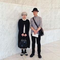 2013年6月 モノトーンで。この頃と比べて今はずいぶん太ってしまいました(pon) #couple #over60 #fashion #coordinate #outfit #ootd #instafashion #instaoutfit #instagramjapan #whitehair #silverhair #greyhair #夫婦 #60代 #ファッション #コーディネート #夫婦コーデ #グレイヘア #白髪 #共白髪