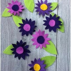 Easy felt flowers