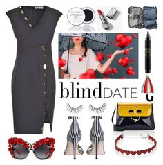 """""""Dress to Impress: Blind Date"""" by nicolevalents ❤ liked on Polyvore featuring Versace, Zimmermann, Laura Ashley, J.W. Anderson, MAC Cosmetics, Burberry, NARS Cosmetics, Unicorn Lashes, Simons and Dolce&Gabbana"""