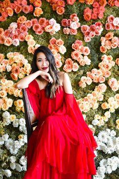 Weekend Away :: Red ruffled dress