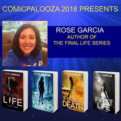 #Comicpalooza is this month! I'm so excited!! Let me know if you'll be there! #Houston #MemorialDayWeekend #TheFinalLifeSeries #RoseGarciaBooks #yalit #yareads