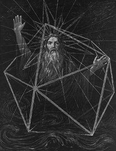Hans Thoma - Es werde Licht, 1884. / Sacred Geometry <3