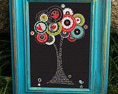 Scripture Art, Christian Art, Trees of Hope -  Hope tree, canvas-mounted framed art (8x10). $35.00, via Etsy.
