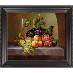 Hokku Designs Fruits Hand Painted Oil Canvas Art with Frame