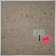 100 things I love... LOVE this!