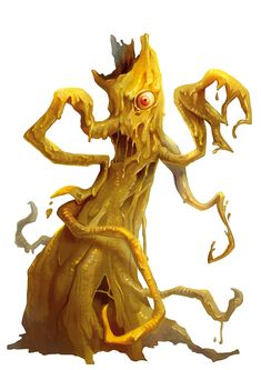 Demon, Yochlol (from the fifth edition D&D Monster Manual). Art by Conceptopolis.