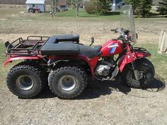 1985 honda atc250es big red lifted and snorkled atc is. Black Bedroom Furniture Sets. Home Design Ideas