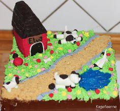 Cathrines kage med hendes elskede hund Elvis - My daughter's cake with her beloved dog Elvis