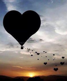 Valentine Hot Air Balloon Heart In Nature, Heart Art, Air Balloon Rides, Hot Air Balloon, I Love Heart, Heart Images, Heart Balloons, Photo Heart, Love Wallpaper