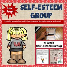 """This 6 Week Self-Esteem Counseling Group resource contains games, activities, task cards, and worksheets designed to boost self esteem in children ages 9 to 14. According to the American School Counseling Association (ASCA), """"Group counseling, which involves a number of students working on shared tasks and developing supportive relationships in a group setting, is an efficient, effective and positive way of providing direct service to students with academic, career and social/emotional…"""