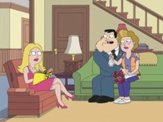 In the DVD commentary for A Smith in the Hand, there was a mention of having an American Dad episode where Stan is attached to his mother in an almost sexual way with Francine being jealous. Both episodes were written by David Hemingson. Swoosie Kurtz, Good Morning Usa, American Dad, Stop Motion, Jealous, Disney Characters, Fictional Characters, Aurora Sleeping Beauty, Dads
