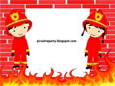 piruletaparty: invitacion fiesta bomberos