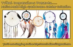 The Amazing Dream Catcher Collection And Gallery! Native made over 200 designs!  Review the collection off of: http://indianvillagemall.com/dreamcatchers/index.html
