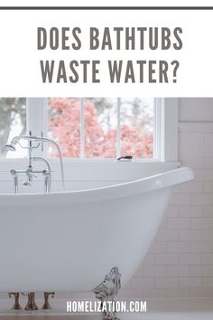 The bathroom is one of the main areas in a house where a lot of water is used. In a bid to manage water consumption, you may want to know what exactly in your bathroom is consuming the most of it. Read on to learn more about whether bathtubs waste more water than other items you may find in your bathroom.
