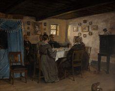 Round the table, 1843. Peter Christian Skovgaard, swedish