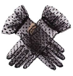 Kpop Fashion Outfits, Stage Outfits, Gloves Fashion, Fashion Accessories, Polka Dot Gloves, Diy Accessoires, Mode Kpop, Accesorios Casual, Black Gloves