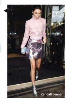 Kendall Jenner, Leather Skirt, Sequin Skirt, Sequins, Skirts, Fashion, Moda, Leather Skirts, Skirt