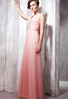 Pink V-neck Beaded Sheath/Column Party Dress 56816