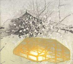 Katherine Jones - A Surrender to Impulse - collagraph, etching & block-print