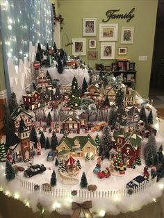 me ~ Nice Christmas village display Merry Christmas Images, Christmas Trends, Christmas Town, Christmas Villages, Rustic Christmas, Christmas Projects, Christmas Holidays, Victorian Christmas, Blue Christmas
