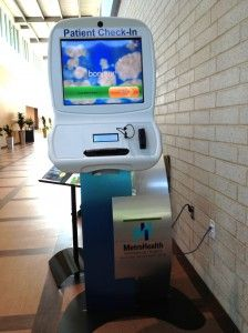 Patient check-in kiosk for MetroHealth