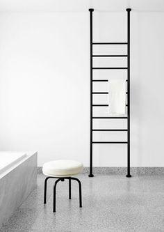 Heated towel rail. Floor to ceiling.  Credit - Flack Studio.