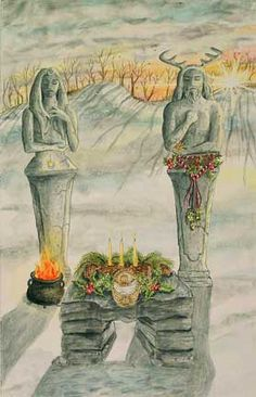 Winter, Christmas and Yule Winter Solstice Pagan Yule, Pagan Art, Wiccan, Magick, Winter Equinox, Happy Winter Solstice, Summer Solstice, Holiday Images, Sabbats