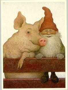 Lennart Helje | Jul | Pinterest | Grisar, Gnomes och Vänner