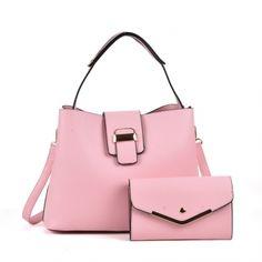 SET: Dámská růžová kabelka Jolly 5121 - Svět shopaholiků