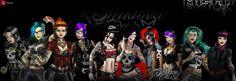 #tbwatoronto #misfitevil #ilustrations #tattoedgirls #drawdigital