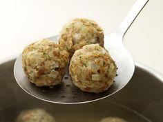 German Bread Dumplings    This recipe is traditionally served with soups and stews.