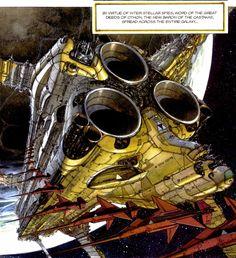 Absorba Shield   laseraw: Juan Gimenez's crazy ships