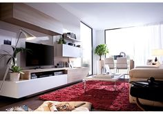 Trendy Products provides great selection of European contemporary furniture - Our modern furniture ranges feature bedroom furniture, living room furniture, dining room furniture and home accessories from many top designer furniture brands Dining Room Storage, Dining Room Furniture, Furniture Design, Contemporary Tv Units, Contemporary Furniture, Wall Storage Systems, Living Room Designs, Wall Cabinets, Wall Units