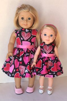 American Made Girl Doll Clothes Dress Fits by JillRodgersDesigns