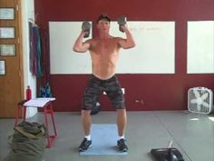 @SEALFIT #DeliciousBuzz #Encinitas #SanDiego  SEAL Fit Dumbbell Thruster