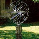 """""""Stainless steel armillary sphere sundial"""" i had no idea these things were sundials!"""